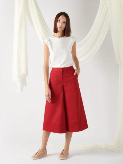 wide-leg trousers in light beige (copy)
