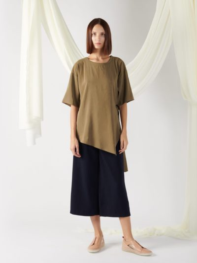 asymmetrical oversized top in midnight blue (copy)